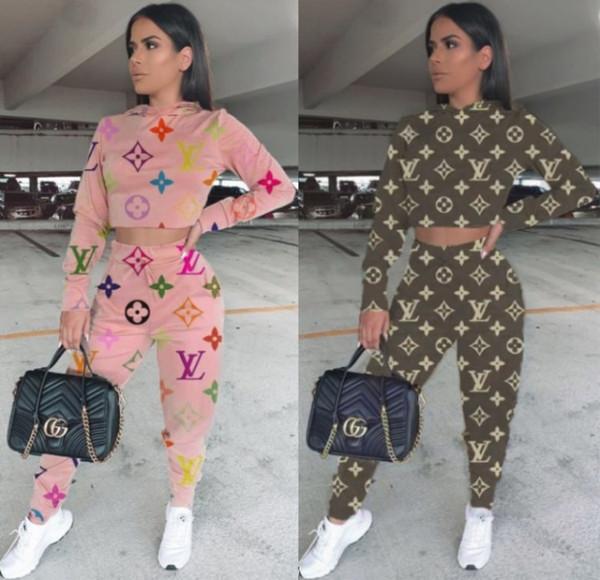 kadın uzun kollu gömlek pantolon 2592 sıcak kazak tayt spor takım elbise eşofman iki parçalı set eşofman kapüşonlu legging kıyafetler spor giyim