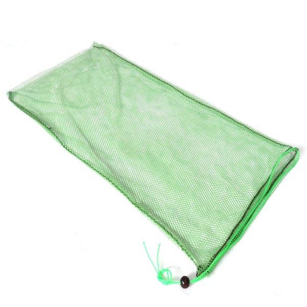 Ferramenta de bolsa de pano verde Combater Mat Unhooking pequena pérola Peixe Keeper rede de malha portátil com cordão Carp Bag