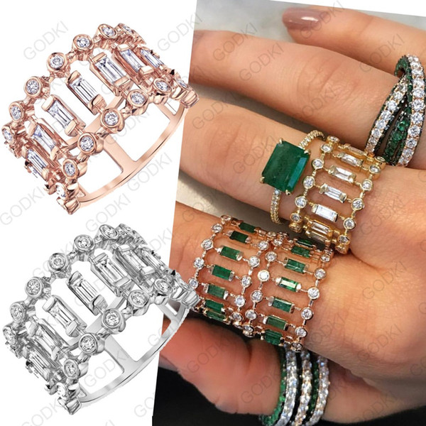ashion Jewelry GODKI Eternity Tennis Luxury Stackable Chic Rings For Women Wedding Cubic Zircon Engagement Dubai Bridal Statement Finger...