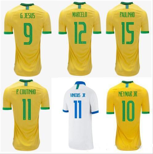 Top quality 2019 2020 Brazil FIRMINO P.COUTINHO soccer Jerseys 19 20 Brasil MARCELO G.JESUS Football Camisetas soccer Shirt Maillot de foot