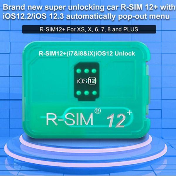 R-SIM12 + R-SIM 12+ R sim12 + RSIM12 + R SIM 12+ RSIM 12 tarjeta de desbloqueo iphone xs max IOS12.2 IOS12.3 iccid desbloqueo sim