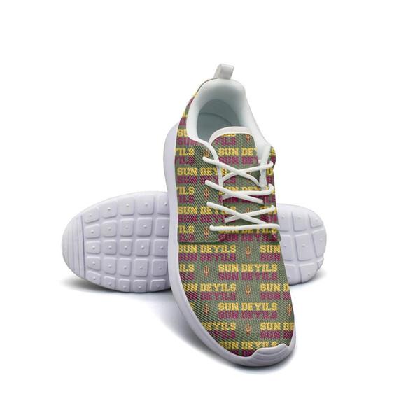 Estado do Arizona Sun Devils futebol Moda de Ouro, design de espuma sapatos Unisex conforto de impressão popular laço