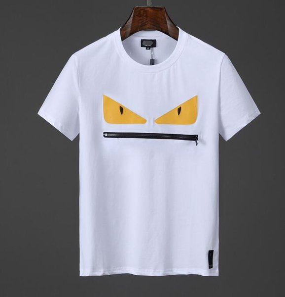 fendi NOVITÀ Marchi Summer Men 3D FF ROMA T-Shirt stampata Borsa Bugs Maniche corte Top Man 100% Cotone donna star t-shirt F07 mens tee