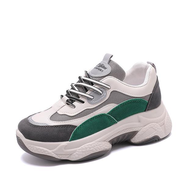 Yeni Sneakers Kadınlar 2020 Nefes Mesh Günlük Ayakkabılar Kadın Moda Sneaker Lace Up Yüksek Boş Kadınlar vulcanize Ayakkabı Platformu