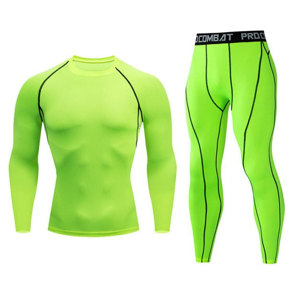 2019 Herren Sportbekleidung MMA Trainingsanzug Herren Sport Set Chandal Hombre Herren Langarm Set Ärmel T-Shirt Herren Trainingsanzug