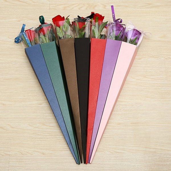 Valentinstag Hochzeitstag Blumenladen gewidmet Rose Verpackung Box Lehrer Tag Geschenkbox Geschenkpapier PVC spezielle Verpackung Box