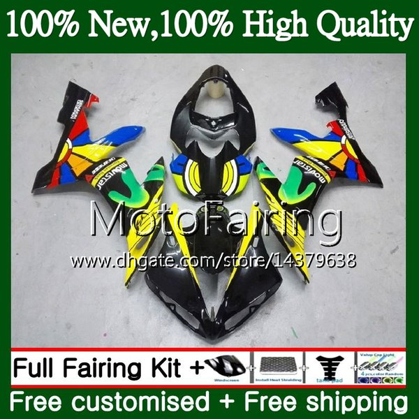 body for yamaha yzf r 1 yzf-1000 yzf 1000 rainbow black yzfr1 04 05 06 97mf8 yzf1000 yzf r1 04 06 yzf-r1 2004 2005 2006 fairing bodywork