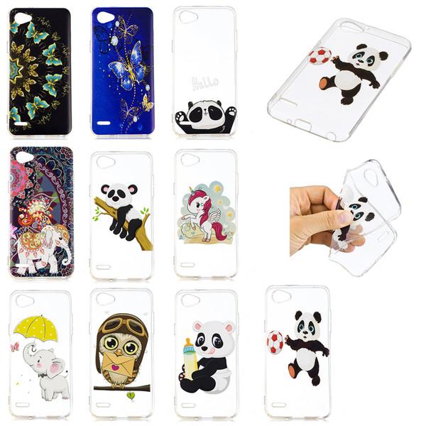 Soft TPU Back Phone Case For LG Q6 Slim Fit Panda owl elephant butterfly unicorn Case for LG G6 MINI Cover