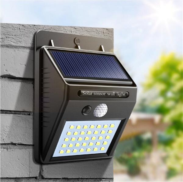 35 LED Luci Solare Impermeabili Per Giardino Domestico Recinzione Sensore di Movimento PIR Rilevazione Lampade da parete a led Luce solare