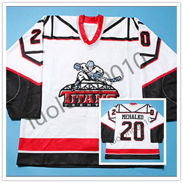 Trenton Titans Brad Mehalko Hockey Jersey-Stickerei zum Anpassen von Namen und Nummern