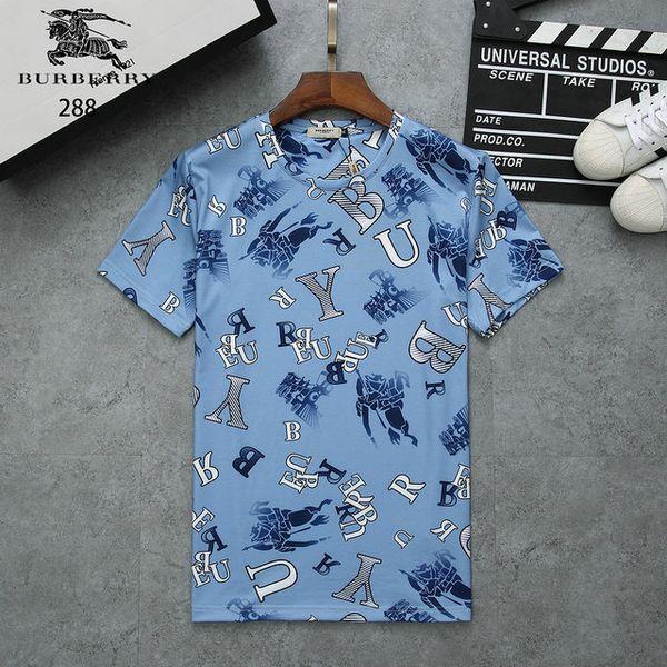 Design de luxo Design Homens T camisas Homme de Verão de Algodão Tripulação Pescoço T-shirt de Manga Curta Cor Preta Roupas Brancas