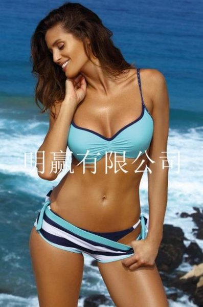 new hot women's split swimsuit high waist sexy solid color printing sexy swimsuit suit bikini suit tights summer water sports swimwear #0088