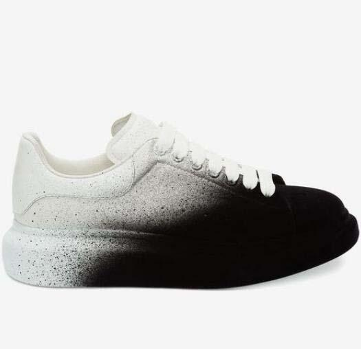 Farbverlauf Granatapfelrot Plattform Klassische Freizeitschuhe Casual Sports Skateboard Schuhe Herren Damen Sneakers Velvet Heelback Dress tyr51