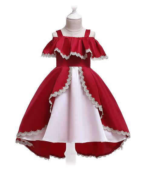 New Childrens Skirt Dress in Summer of 2019 European and American Childrens Dress Princess Skirt Autumn Butterfly Knot Girl Pengpeng Skirt