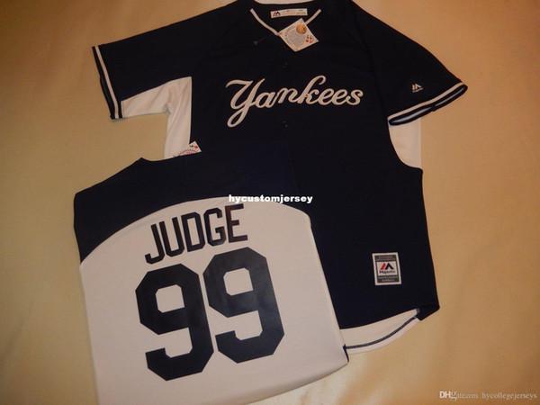 encargo baratos Nueva York # 99 Aaron Judge Jersey de béisbol azul Nuevo $ 79.99 para hombre cosido jerseys grandes y altos TAMAÑO XS-6XL Venta