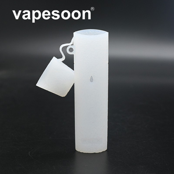 Vapesoon Silicone Cover case Skin for RELX POD System Non-Slip Texture silicon Sleeve Wrap shell gel