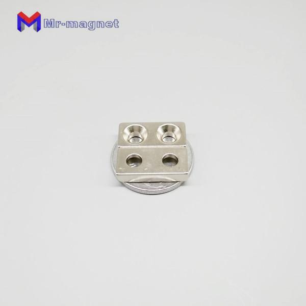 100 teile / los 20 x 10 x 4mm 5mm Loch N35 Super Strong Rare Earth Ring Block Neodym-magnet