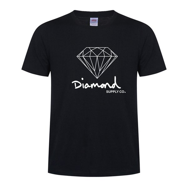 New Summer Cotton Mens T Shirts Fashion Short-sleeve Printed Diamond Harajuku T-shirt Co Male Tops Tees Hip Hop Sport Blue Clothes 20 Colors