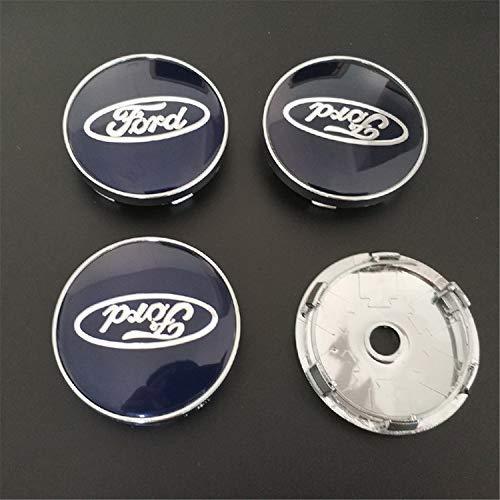 Tampão da borda do emblema do emblema dos tampões de cubo do centro de roda do carro de 4PCS 60mm para Ford