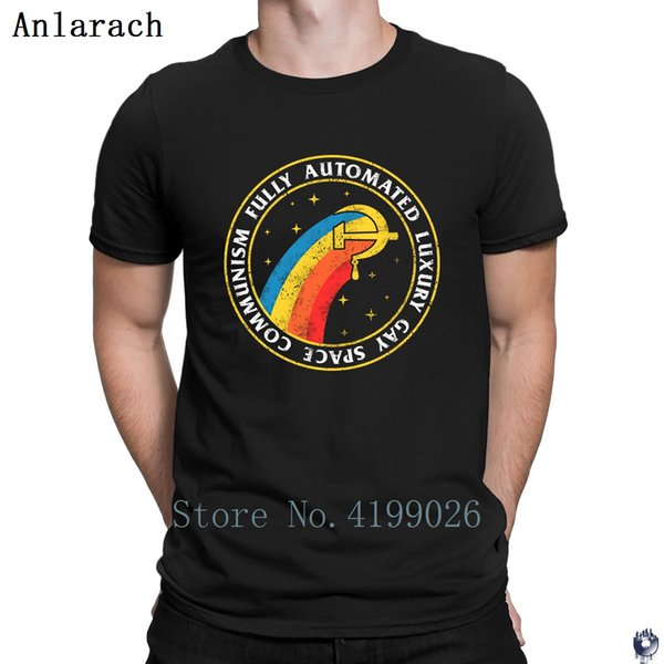 Fully Automated Luxury Space Communism t shirt create streetwear t shirt for men Pop Top Tee Hot sale Russian CCCP t-shirt