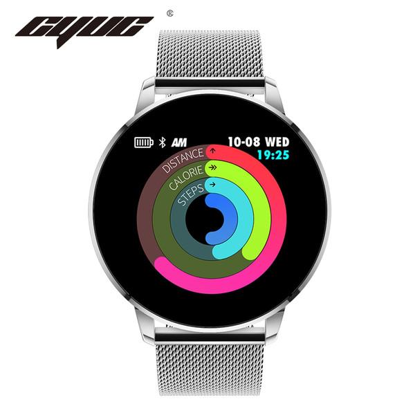 CYUC Q8 Advanced 1,3-дюймовый цветной экран фитнес-трекер смарт-часы монитор сердечного ритма SmartWatch Q8 обновленная версия