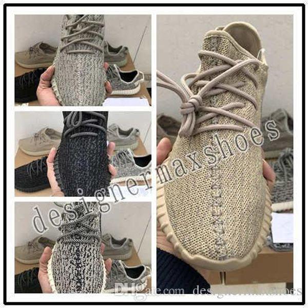 2019 yüksek kaliteli V1 Moonrock Oxford Tan Korsan Siyah Beyaz Full Siyah Koşu ayakkabıları Kanye West Ayakkabı snakers ücretsiz kargo spor