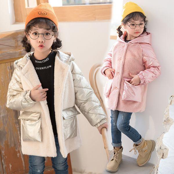 Boys winter coats & Jacket kids Zipper Sport jackets Fashion Patchwork thick Winter jacket Boy Girls Winter Coat kids clothes