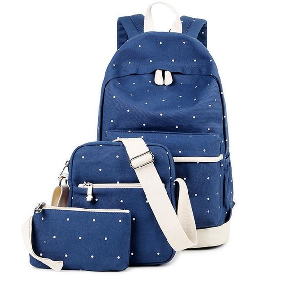 Preppy Style High School Backpacks Student Bag Three 3 Pieces A Set Travel Backpack Print Canvas Backpacks Teenager Girls Bags