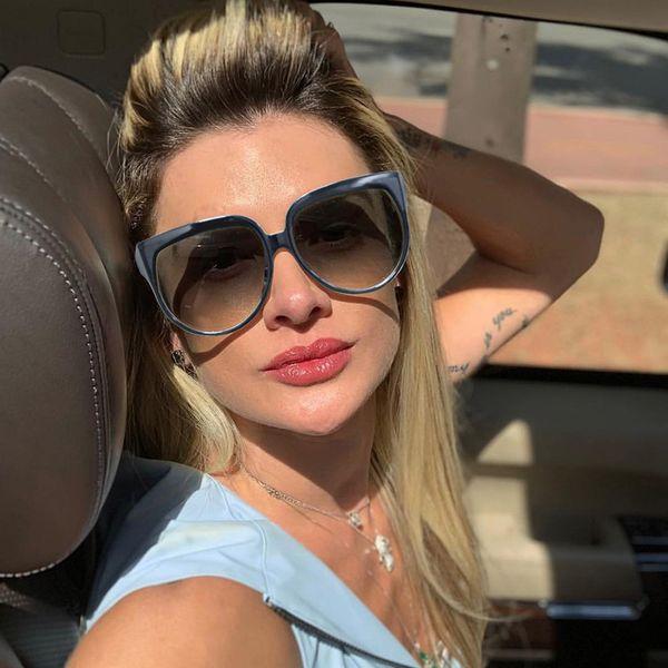 Trendy Da Donna Fashion Oversize Occhiali Da Sole Rotondi Cerchio