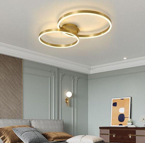 Plafonnier moderne à led dans le salon de la chambre à coucher allumant un projet de lampe MYY