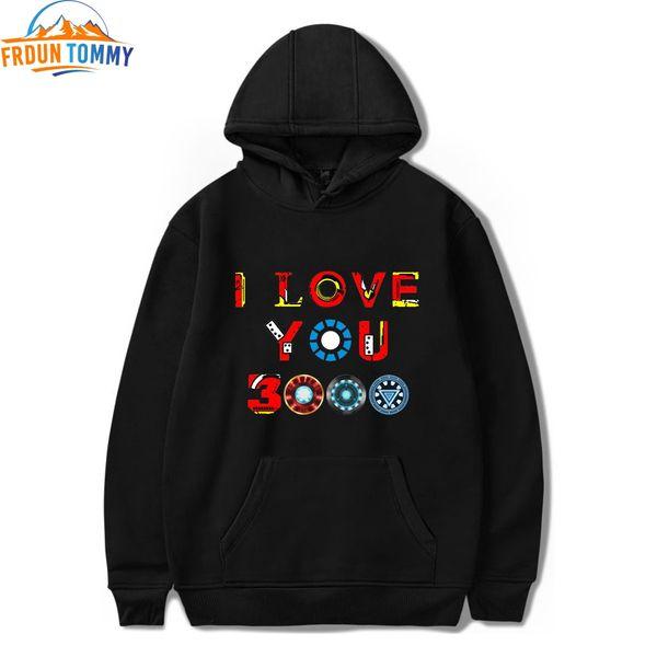 New Print I Love You 3000 Times Hot Sale Hoodies Sweatshirt Fashion Comfortable Funny Printing Casual Sweatshirt Pullovers