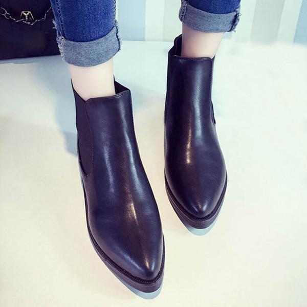 Bottes élégantes bottes femmes plate-forme chaussures à talons hauts femmes bottines chaussures confortables