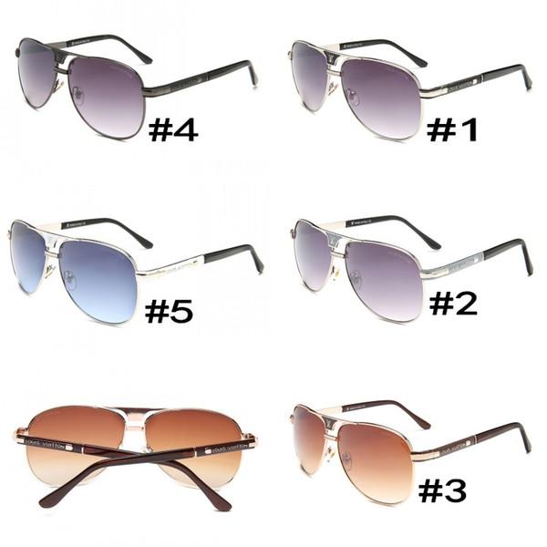 Luxury- High Quality Classic Pilot Sunglasses Designer Brand Mens Womens Sun Glasses Eyewear Metal Glass Lenses S1253