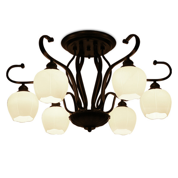 American Chandeliers hotel living room retro lamps wrought iron glass light low floor Parlor Hotel Home lighting G305