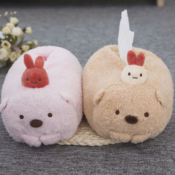 Sumikko Gurashi Plush Tissue Towel Japanese Anime Toy Stuffed Animal Soft Cute Paper Towel Set