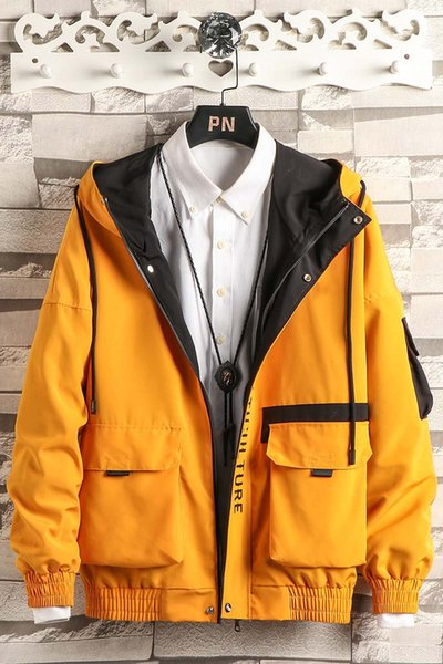 Brand High Quality Long Sleeve New Designer Mens Fashion Loose Windbreaker and Natural Color for Casual Fashion with Size M-4XL B100131Q
