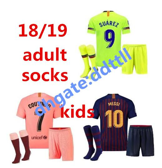 new product 105bf a8c9b 2019 2018 2019 Barcelona Soccer Jersey SUAREZ O.DEMBELE Adult Third 3RD  Pink PIQUE Messi Champions Adult Football Shirt Kit Men INIESTA Shorts From  ...
