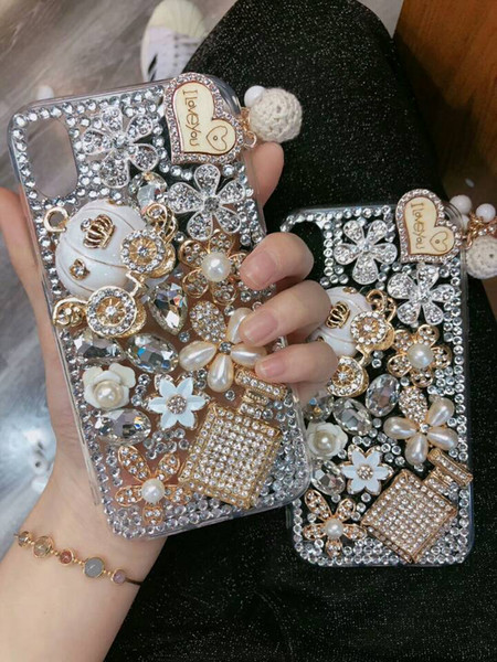fashion Luxury diamond cellphone case cover for iphone xs xr max hot sale
