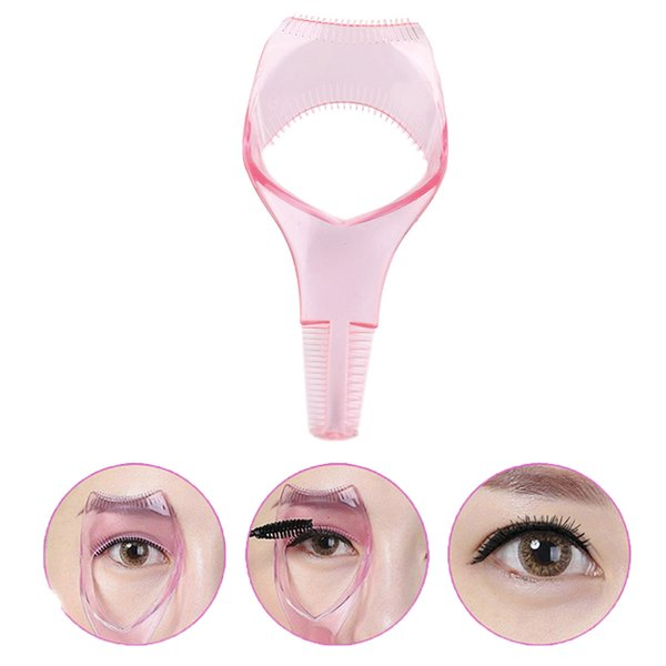 Eyelash Tools 3 in 1 Makeup Mascara Shield Guard Curler Applicator Comb Guide