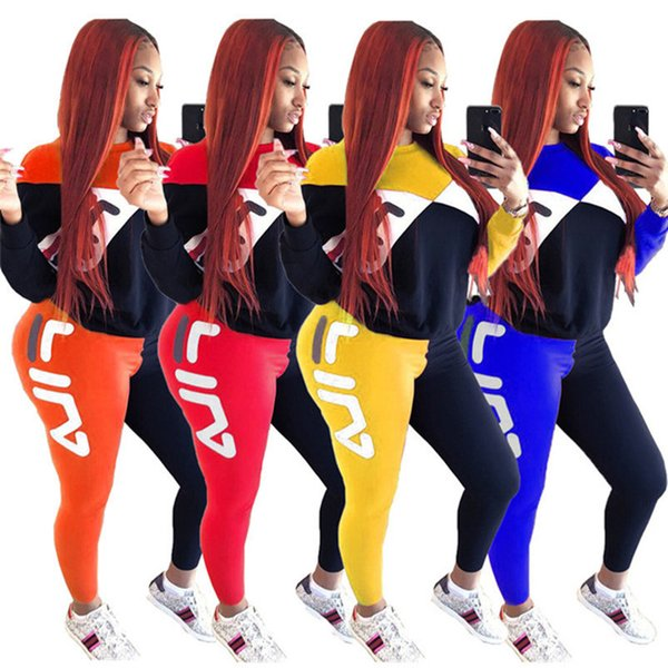 Women Designer Hoodies+Leggings 2 Piece Set Tracksuit S-2XL Outfits Shirts+Pants Sportswear Winter Fall Casual Clothing Sports Suit 1498