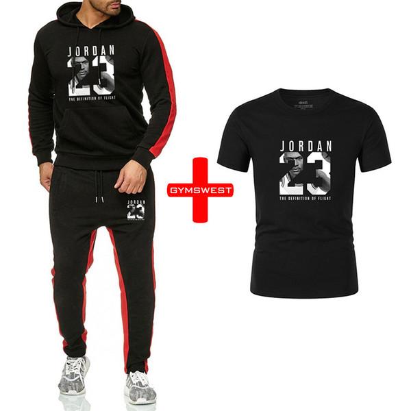 New Winter Tracksuits Men Set 23 Thicken Hoodies+Pants+Tshirt Suit Spring Sweatshirt Sportswear Set Male Hoodie Sporting