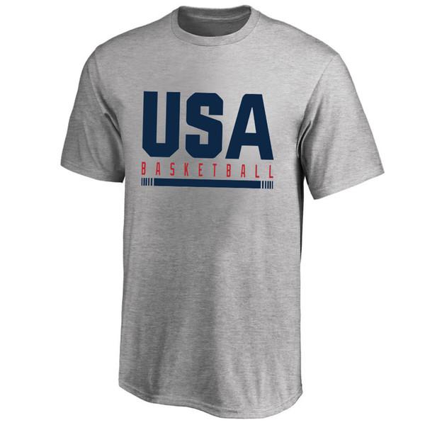 2019 Basket World Cup USA Squadra nazionale di basket T-Shirt America Magliette grafiche da uomo Fan Supera le magliette degli Stati Uniti Logo stampato