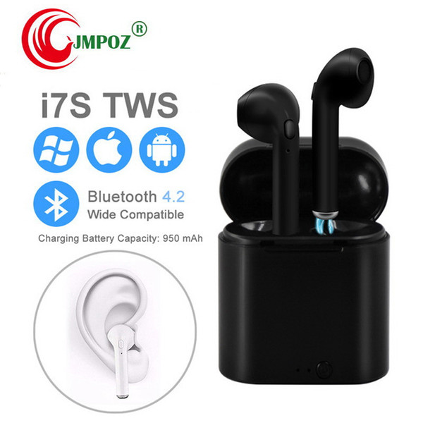 i7s Mini Wireless bluetooth headphones In Ear Stereo Earbud earbuds with Charging Box for Apple iPhone 7 not airpods
