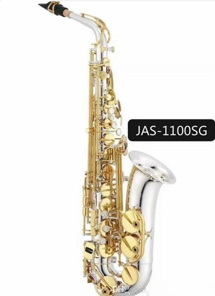Jupiter JAS-1100SG Saxofone alto Eb Tune Latão Musical Instrument níquel prata banhado corpo ouro Lacquer Key Sax com caso Bocal