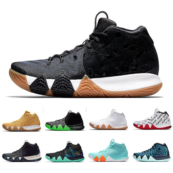 New 2019 Men Basketball Shoes Irving 4 Pitch Blue March Madness Triple Black Red Carpet Trainers Designer Mens Athletic Sporsts Sneakers