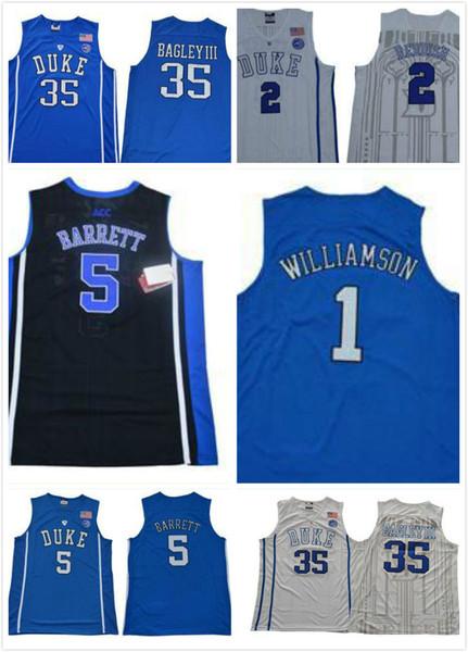 best sneakers ec19e 77b3a 2019 Men Duke Blue Devils Jersey Men 1 Zion Williamson Jersey 5 RJ Barrett  2 Reddish Royal 2019 NCAA College Basketball Jerseys From Fansmore, $14.21  ...