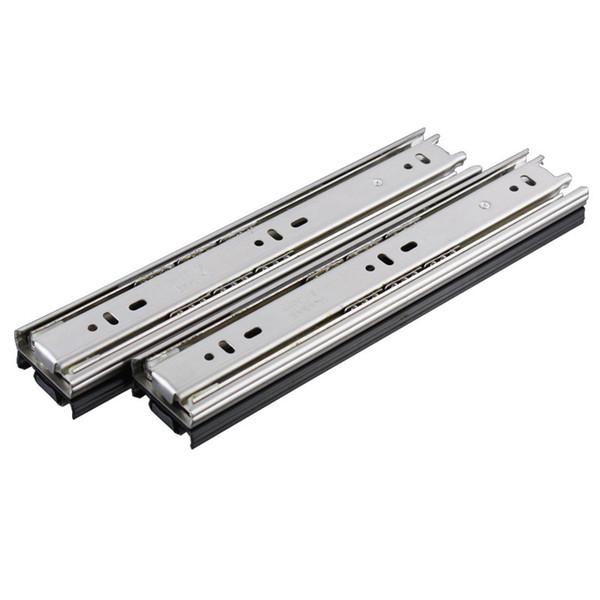 Dreiteilige Edelstahl-Küchenschrankschublade Metallgleitbahn superlange kaltgewalzte Stahlführungsschiene