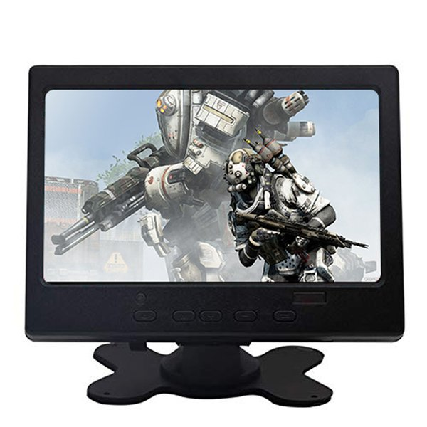 """7""""1024x600 TFT Screen Display Lcd Monitor TFT Led AV Input/VGA/HDMI Built-in Speaker Compatible With Raspberry Pi for Car PC"""