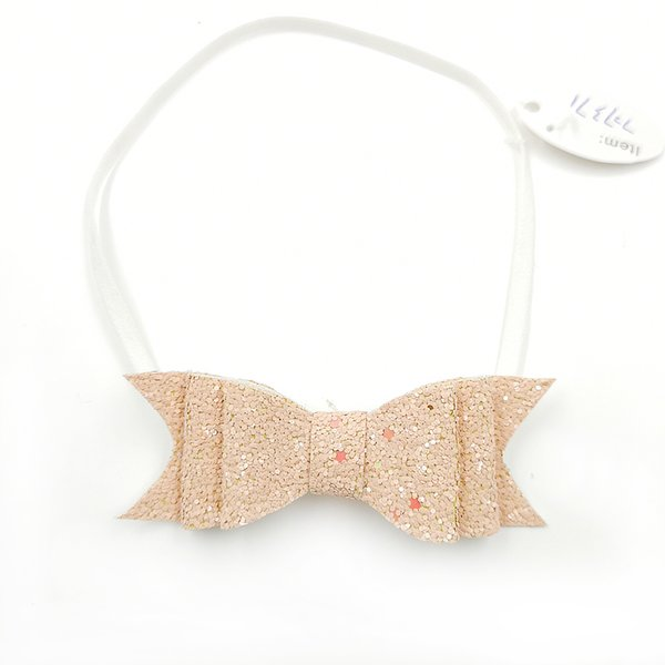 20pcs/lot 11Colors Cotton Felt Bows Glitter Bows Nylon Headband Baby Girls Photography Props Infrant Hair Accessory Kidocheese