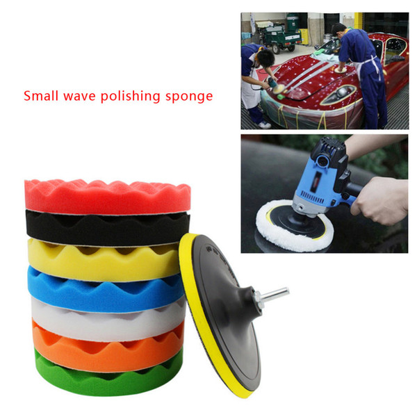 "best selling 10 pcs Car Sponge Polishing Pad Set Buffing Waxing Pad For Car Polisher Buffer Drill Adapter Wheel polisher 3"" 4"" 5"" 6"" Optional"